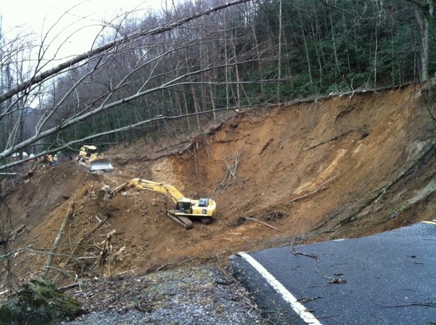 Smoky Mountain road closure